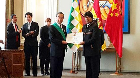 Bolivia recibe $us 4.858 MM en créditos de China que también condona una deuda por 5.440.000 yuanes alrededor de 800.000 dólares