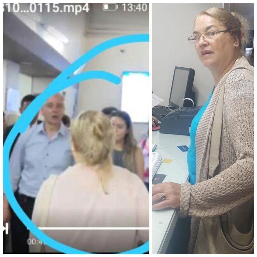 Mujer agrede con escupitajo al Vicepresidente Álvaro García Línera cuando acudió a la clínica Foianini para visitar a las víctimas de la explosión ayer en Villamontes Tarija