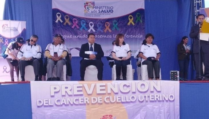 Ministerio de Salud lanzó campaña nacional de prevención de cáncer de cuello uterino para mujeres puedan realizarse prueba de Papanicolau gratuita
