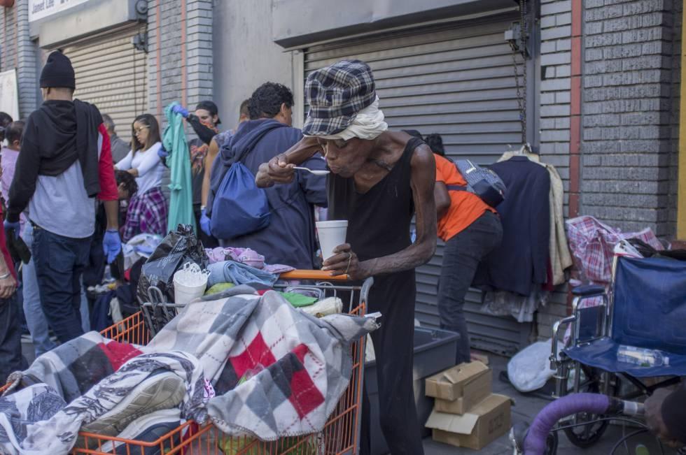 Los Ángeles y de California el estado con mayor índice de pobreza de EE.UU
