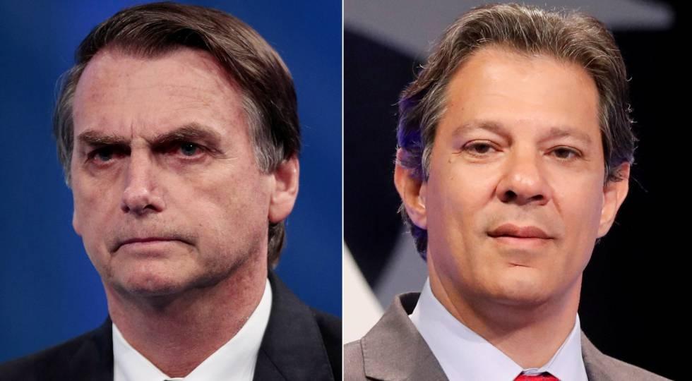 Ultraderechista Jair Bolsonaro gana con 55%  Fernando Haddad del PT obtiene el 44% al 99% de votos escrutados