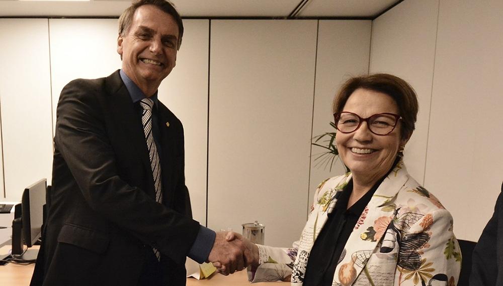 Tereza Cristina Correa da Costa futura ministra de Agricultura de Jair Bolsonaro amenazó con la retirada de Brasil del Mercosur