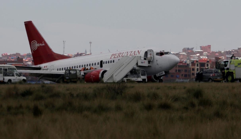 Avión de Peruvian sufre percance y ocasiona cierre del aeropuerto de El Alto por cerca de 10 horas