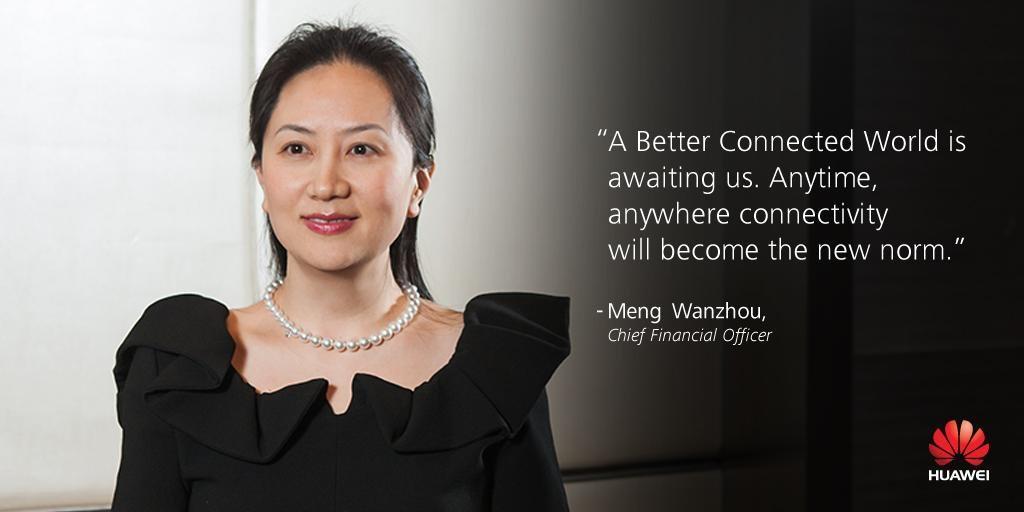 Arrestaron a Meng Wanzhou Directora de finanzas del Gigante chino Huawei