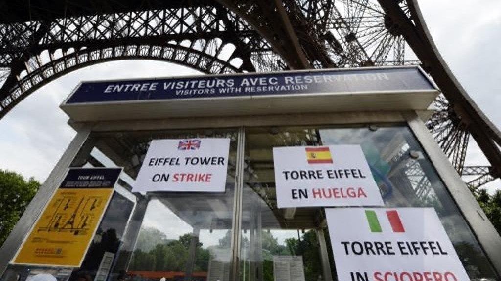 Cerrará la Torre Eiffel este sábado por la protesta de los