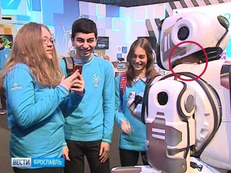 Resultó ser un hombre disfrazado el robot ruso de alta tecnología de nombre