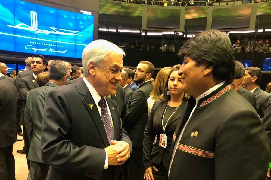 Presidente Evo Morales informó del encuentro con el presidente Sebastián Piñera en la posesión del mandatario  Jair Bolsonaro