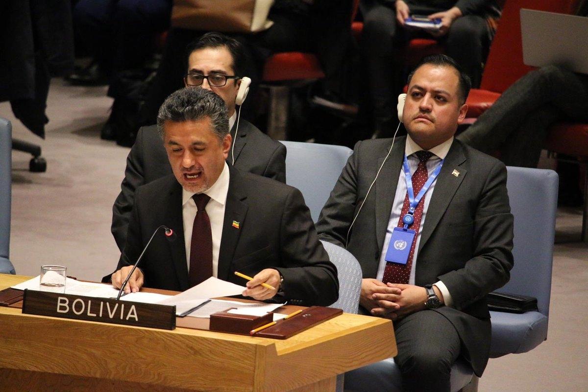 En la ONU Bolivia exige levantar sanciones unilaterales a Venezuela y despolitizar ayuda humanitaria