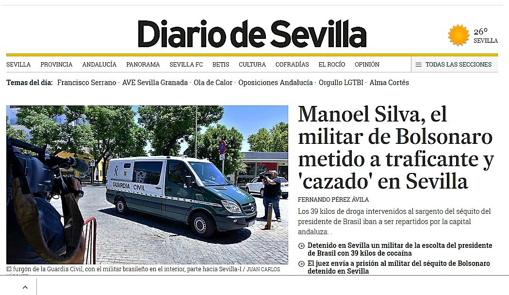 Manoel Silva Rodrigues Militar brasileño detenido en España con 39 kilos de cocaína hizo viajes con Temer y Bolsonaro