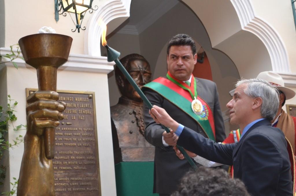 Homenaje a La Paz Gobierno garantiza recursos para potenciar su motor de desarrollo económico y social