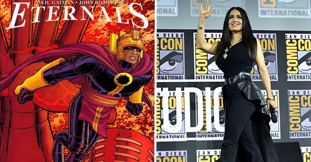 Universo Marvel cuenta con Salma Hayek compartirá créditos con Angelina Jolie