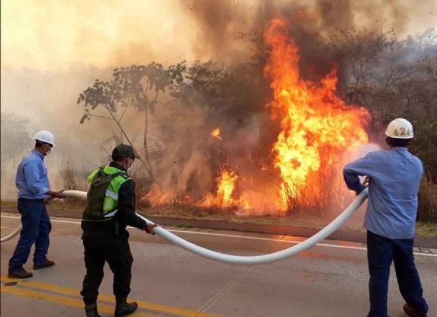 Denuncian que ocupantes de camioneta desconocida ocasionan incendios en Concepción  en la Chiquitania Boliviana