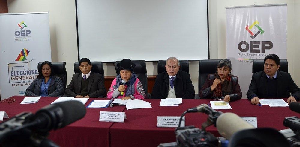 Tribunal Electoral pide que las elecciones se desarrollen en un clima de tranquilidad  apesar del paro cívico en Potosí