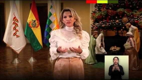 Presidenta Jeanine Áñez dió mensaje por Navidad