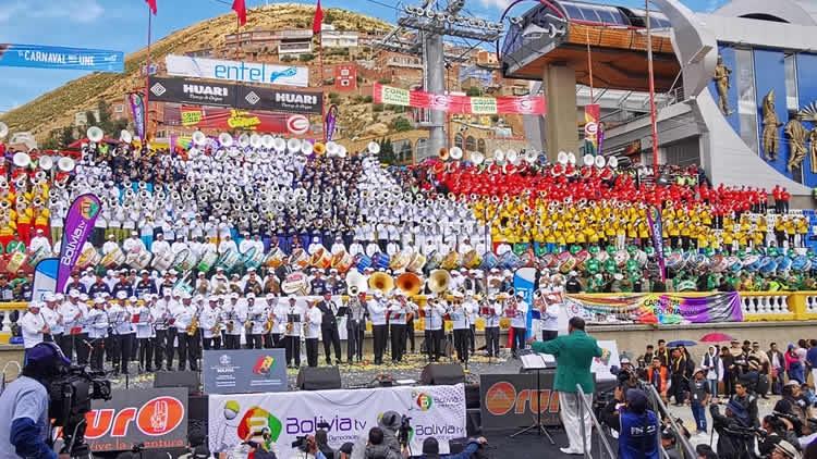 Con La XIX versión del tradicional Festival de Bandas se inicia el Carnaval 2020 en Oruro