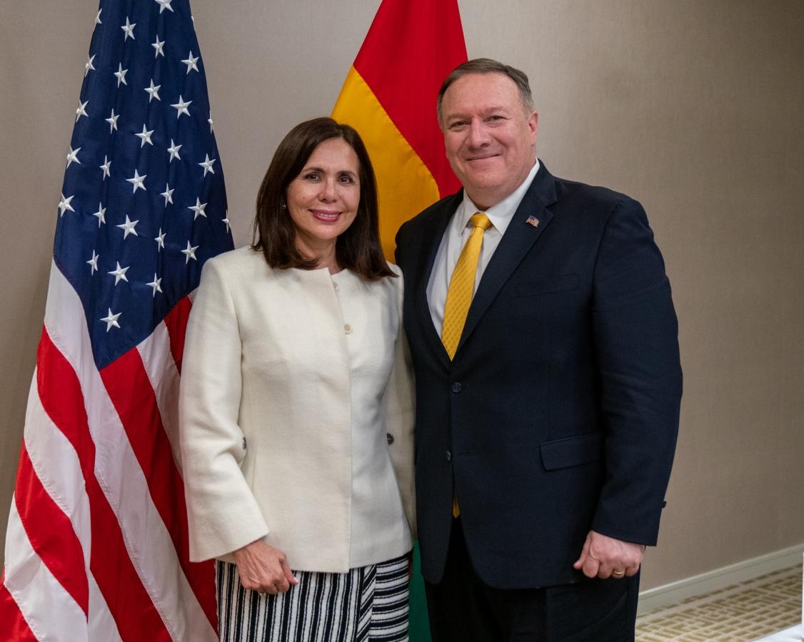 Canciller Karen Longaric anunció la restauración de las relaciones diplomáticas con Estados Unidos en los