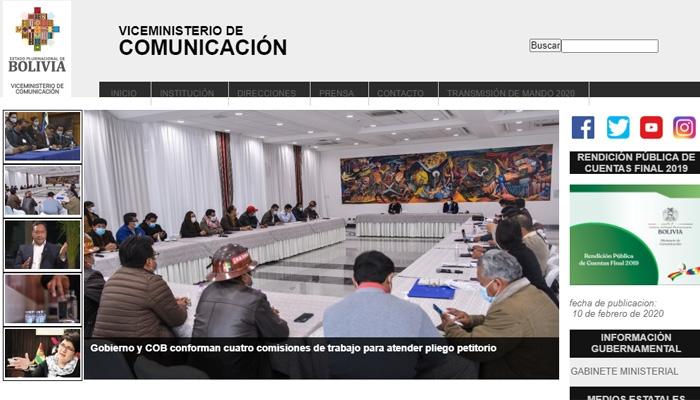 Gobierno asignó Bs 50,7 millones al Viceministerio de Comunicación para el cumplimiento