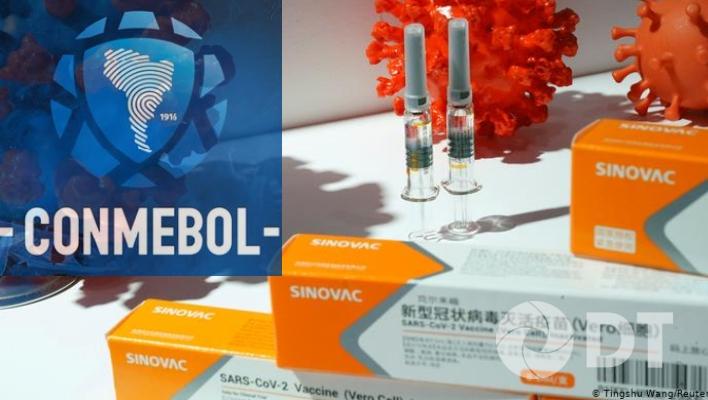 Conmebol adquirirá 50.000 dosis de la vacuna china será aplicada a jugadores de selecciones y clubes