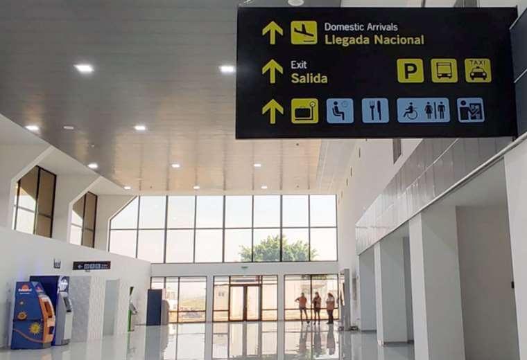 Presidente Luis Arce Catacora inauguró la ampliación de la terminal aérea de Viru Viru, la obra demandó un inversión de 42 millones